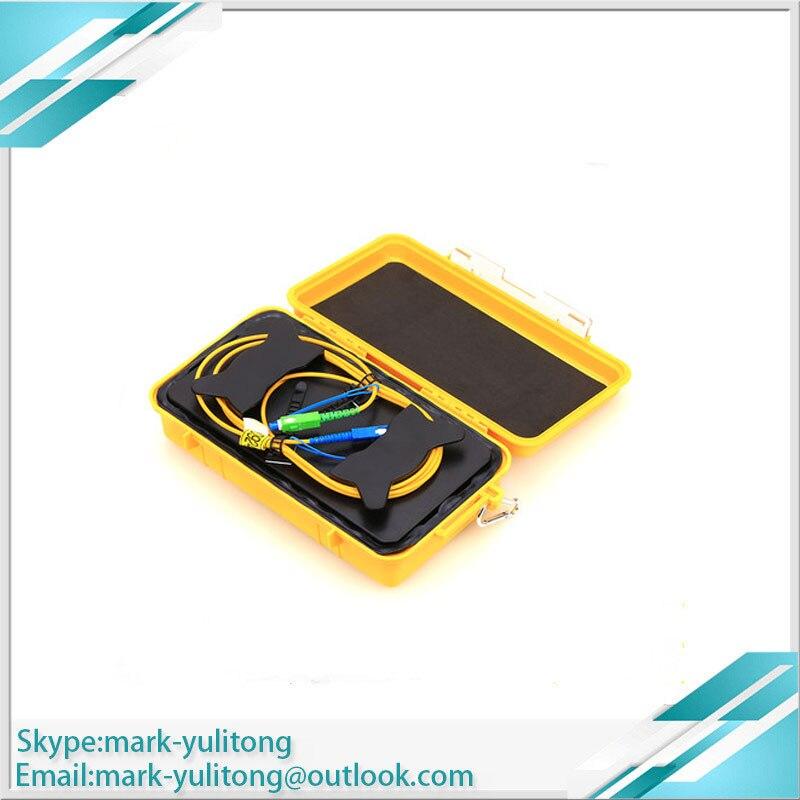 FTTH 1KM Singlemode Fiber Optical OTDR Launch Cable Box for OTDR Dead Zone Eliminator used with Fiber Optical OTDR SC/LC/FC UPC