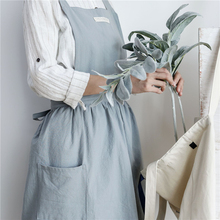 Fashion Brief Nordic Wind Pleated Skirt Cotton Linen Chef Apron Coffee Shops And Flower Shops Work Clothes Women Cleaning Aprons fashion brief nordic wind pleated skirt cotton linen chef apron coffee shops and flower shops work clothes women cleaning aprons