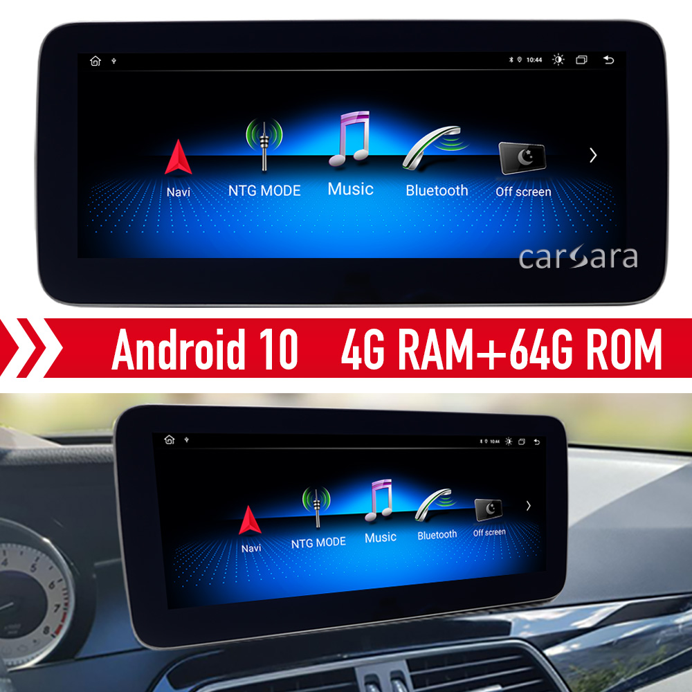 C klasse <font><b>W204</b></font> android 10 monitor retrofit touch bildschirm für mercedes Ntg <font><b>RADIO</b></font> comand system audio 20 dvd GPS navigation upgrade image