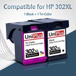 UniPlus wkład tuszu pojemnik z 302XL dla HP 302 hp 302 XL 2132 2133 2134 2136 2138 3630 3632 3634 3636 3637 Deskjet drukarki atramentowej