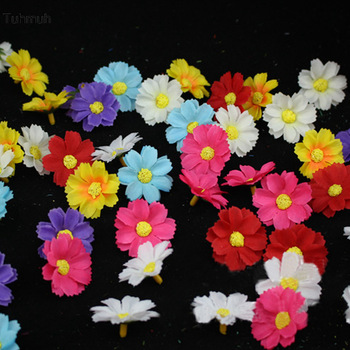 500pcs Daisy Artificial Flowers Heads 3.5cm DIY Handmade Headband Hairclip Accessories Wedding Car Decoration Party Supplies