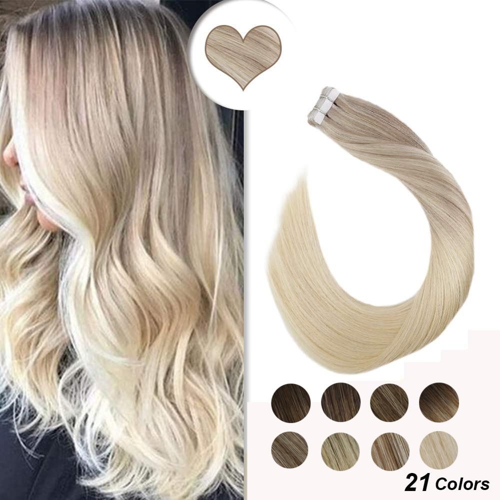 [New Arrival] Ugeat Tape In Human Hair Extensions 12-24