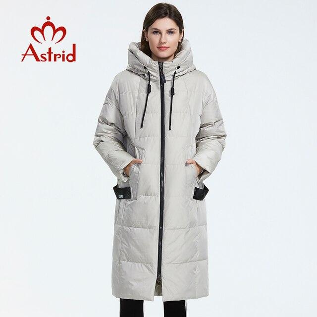 Astrid 2019 hiver nouveauté doudoune femmes vêtements amples vêtements d'extérieur qualité avec une capuche mode style hiver manteau AR-7038 2