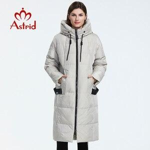 Image 2 - Astrid 2019 inverno nova chegada para baixo jaqueta feminina roupas soltas outerwear qualidade com um capuz moda estilo casaco de inverno AR 7038