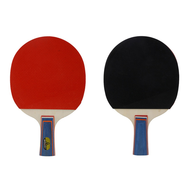 2pcs Professional Carbon Fiber Table Tennis Rackets With Double Face Pimples Ping Pong Racket With 3 Ball