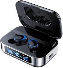 Wireless Bluetooth Kopfhörer In-Ohr Kopfhörer LED Disaply Power 2200mA Atmen Lampe IPX7 Wasserdichte Ohrhörer 100 Stunden Spielen