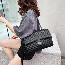 Clássico padrão de diamante das mulheres xadrez mensageiro saco grande quadrado feminino sacos de ombro losango treliça grande tamanho luxo senhora bolsa