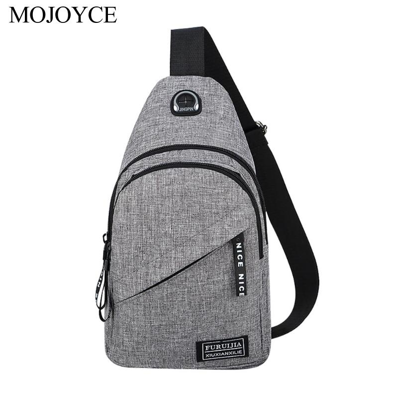 New Fashion Simple Men Messenger Chest Bag Oxford Shoulder Satchel Casual Travel Crossbody Bags With Side Bottle Pocket Backpack