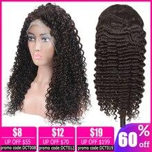 deep wave 13x4 lace front wig Brazilian pixie cut short bob glueless Human Hair Wigs for women non-remy 150% Density