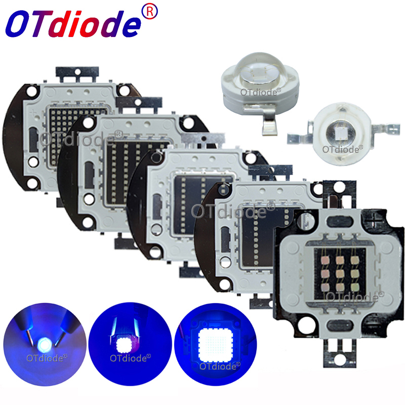 <font><b>UV</b></font> Purple <font><b>LED</b></font> Ultraviolet Bulbs Lamp Chips 365nm 375nm 380nm 385nm 395nm 400nm 405nm 3W 5W 10W 20W 30W 50W 100W High Power Light image
