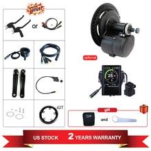 Tongsheng TSDZ2 DIY dönüşüm ebike kiti orta sürücü Motor tork sensörü 36V 350W 48V500W 850C ekran elektrikli bisiklet motor