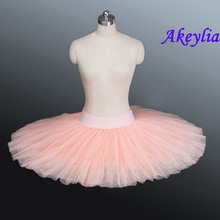 Peach Pink Professional basic ballet rehearsal tutu skirt for dance half Tutu Skirt Dress 10 Colors ballerina practice tutu kids