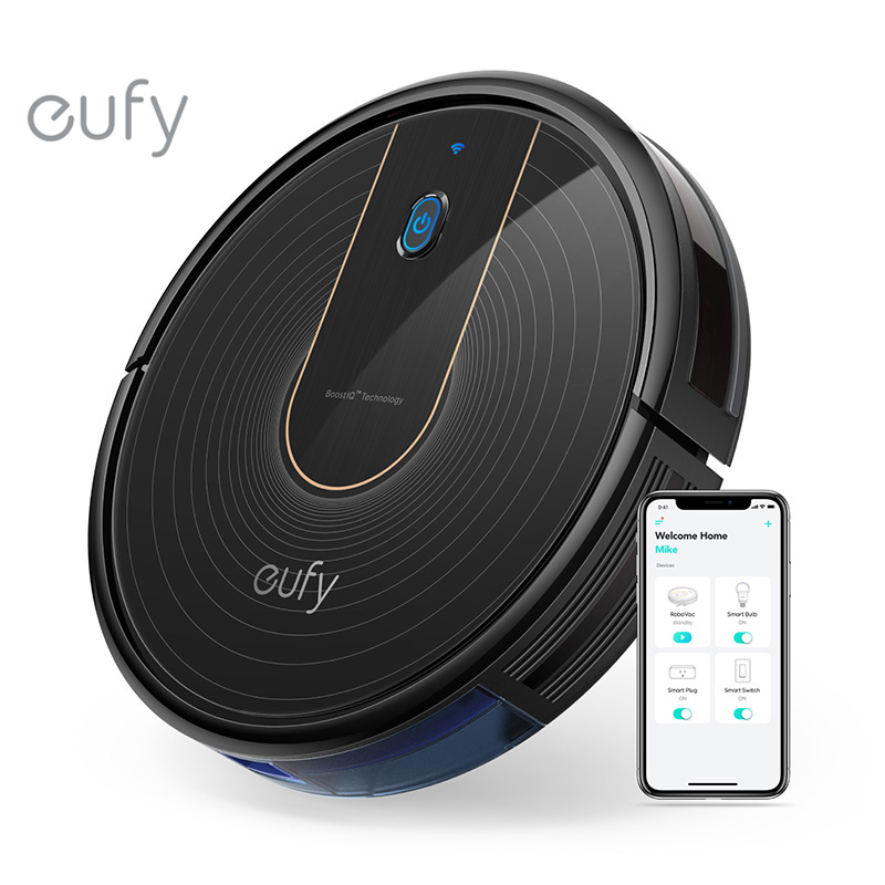 Eufy [BoostIQ] RoboVac 15C, Wi-Fi, Super-Thin, 1300Pa Strong Suction Quiet, Self-Charging Robotic Vacuum Cleaner
