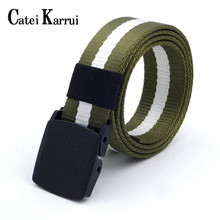 Catei Karrui Tactical Belt Military Style Webbing Riggers Nylon Belt with Heavy-Duty Metal Bucklel outdoor sports training  - buy with discount