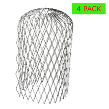 4 шт. алюминиевый фильтр открытый сад Стоп Блокировка прочный 3 дюймов листья мусора практическая водосточная сетка защита от ржавчины
