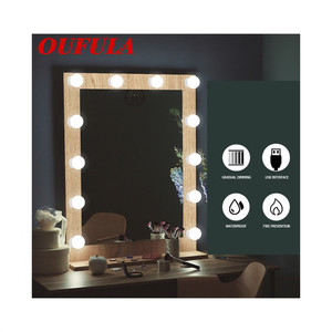 Aosong Vanity Light Hollywood Usb Cosmetische Spiegel Lamp Led Licht Touch Tune String Verborgen Bedrading Rotatie