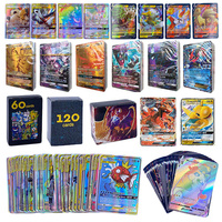 TOMY-cartas POKEMON TAG TEAM GX VMAX V MAX para juego brillante, juguete para niños, 60-300 Uds.