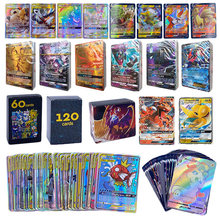 TOMY-Juego de cartas POKEMON para niños, juguete de cartas de batalla GX VMAX V MAX