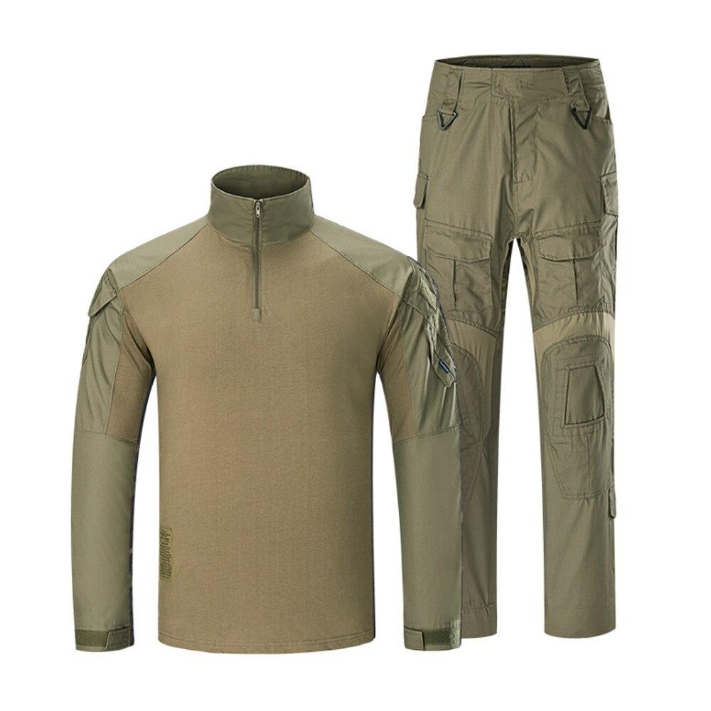 Klassieke Tactische Militaire Uniform Pak Mannen Leger Camouflage Paintball Pak Set Airsoft Paintball Multicam Cargo Shirt Met Broek - 6