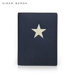هيرام بيرون مخصص اسم الحرة جلدية حامل جواز سفر الرجال تصميم حافظة سفر مع ستار دروبشيب