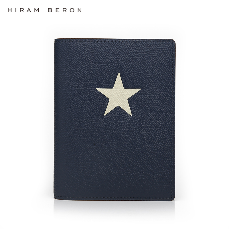 Hiram Beron Custom Name FREE Leather Passport Case Holder Men Design Travel Case With Star Dropship
