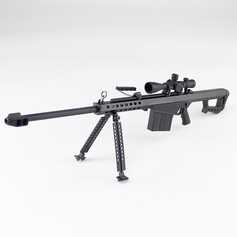 1/4 Barrett M82A1 Alloy Gun Model Assembled Model Rifles Decoration Toys Gifts