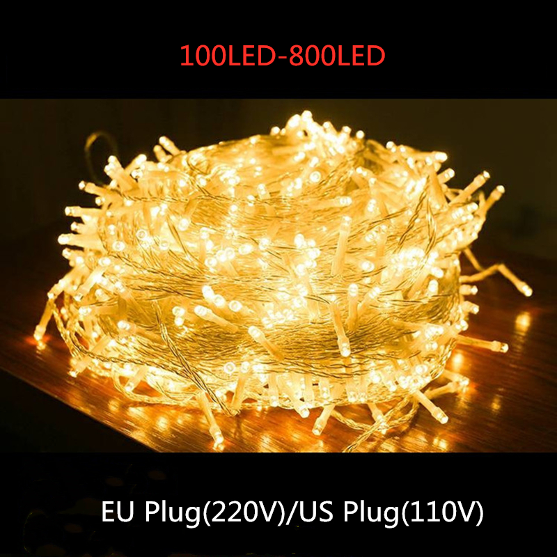 LED Garland Lights String Christmas Fairy Lights Party Wedding Led Light Decoration Garden Patio Outdoor Waterproof String Light