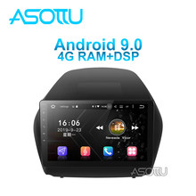 Asottu android 9.0 PX6 car dvd for Tucson ix35 2010 2015 year car dvd gps navigation raido video audio player car stereo(China)