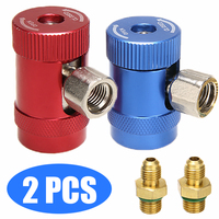 Universal 2pcs R1234yf Quick Coupler Connector Adapter Air Conditioning Refrigerant Systems And Fluoride Accessories Tool