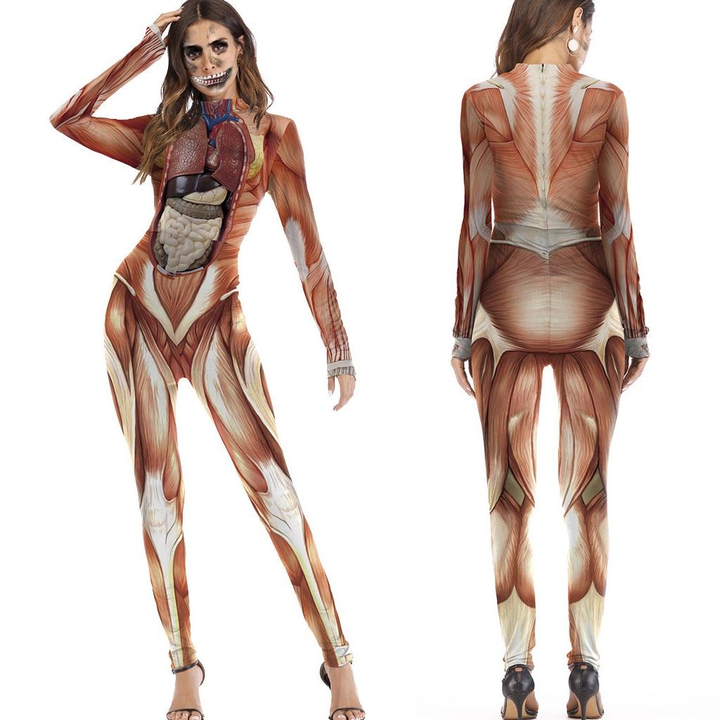 Vertvie, женские костюмы, боди, для женщин, забавные фестивали, костюмы для выступлений, одежда, COS, длинный рукав, комбинезон, внутренние органы