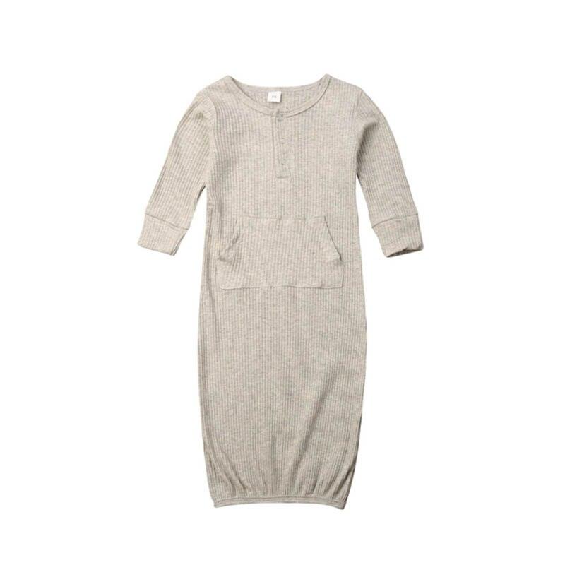 Осенняя одежда для сна с длинными рукавами для маленьких мальчиков и девочек спальный мешок для малышей, хлопковые комбинезоны для новорожденных, комбинезон, костюмы - Цвет: EN6825W70