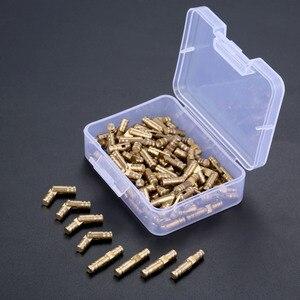 Image 5 - DRELD 100 sztuk mosiądz ukryte zawiasy beczki biżuteria drewniane pudełka szafka ukryty niewidoczny zawias meblowy 4*20mm ze schowkiem