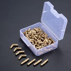 Image 5 - DRELD 100pcs ทองเหลืองปกปิดบานพับเครื่องประดับไม้กล่องตู้ที่มองไม่เห็นบานพับ 4*20 มม. เก็บกล่อง