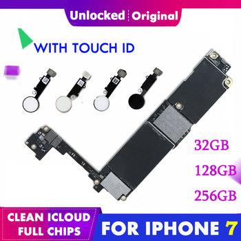 Oryginalna płyta główna dla iPhone 7 4 7 #8221 iCloud odblokuj 32G 128G 256G płyta główna tablica logiczna odblokowany dotyk palcem ID nie jest zablokowany tanie i dobre opinie TDCYHHX Wewnętrzny Apple iphone for iphone 7 For iPhone 7 4 7 32GB 128GB 256GB Original unlocked QC Fully Tested