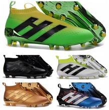 2020 New original mens No shoelaces high ankle fooTbaLls bOOTs ACE 16+ purECOntROl AG FG soccer shoes ACE 16.1 NSG sOcCEr cLEAts(China)
