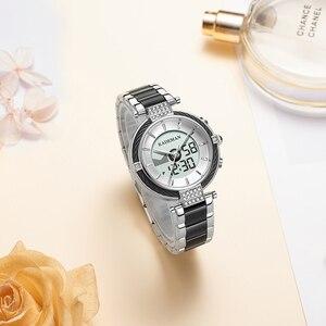 Image 4 - KADEMAN Luxury Crystal Watch LED Display Women Top Brand Stainless Steel Ladies Wrist Watches Bracelet Clock Relogio Feminino