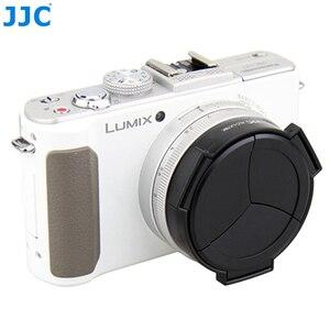 Image 2 - JJC Fotocamera Auto Copriobiettivo per PANASONIC DMC LX7/Leica D Lux6 Nero Argento Self Conservando Automatico di Protezione