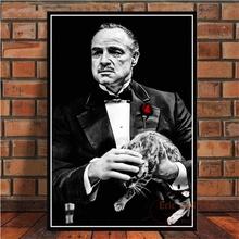 Posters and Prints The Godfather Movie Marlon Brando Al Pacino Poster Wall Art Picture Canvas Painting for Room Home Decor