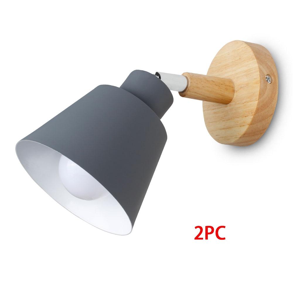 Grey 2pc No Bulb