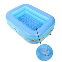 Children's Inflatable Square Thick Baby Bathing Pool Summer Outdoor Cartoon Swimming Pool Family Childre Playing Water