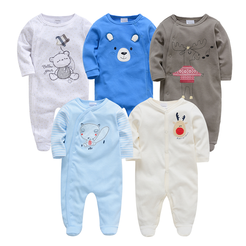 Honeyzone Newborn Bebes Bodysuit Toddler Boy Girl Spring Long Sleeve Overall Infant Bebes Cotton Soft Printing Clothes For 0-12M