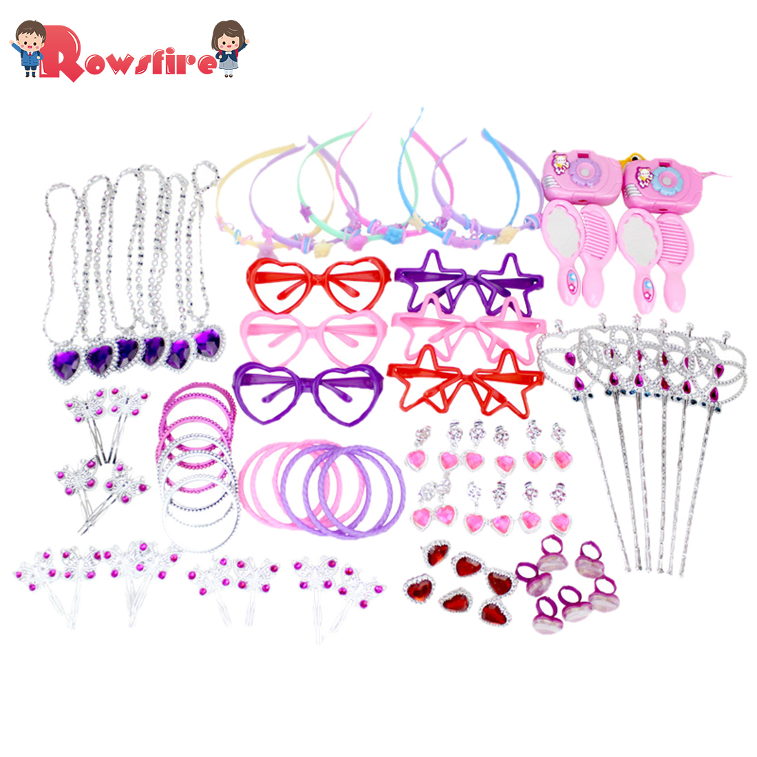 72Pcs Girl Birthday Decoration Toy Set For Party - 12 Type Mixed