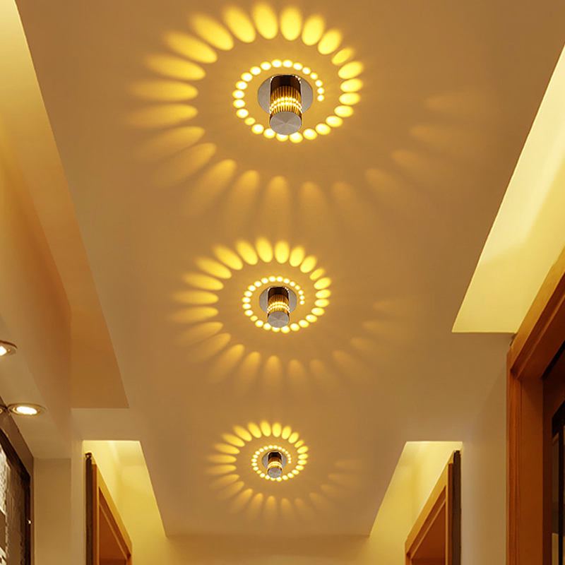 Modern Corridor Porch Lights Creative Ceiling Lights Flush Mounted Sunflower Wall Lights Asile Lights 3w Warm White Recessed Lighting Home Kitchen