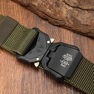 Image 4 - FRALU Tactical belt Military high quality Nylon mens training belt metal multifunctional buckle outdoor sports hook new