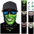 3D Nahtlose Magie Stirnband Schädel Geister Clown Hals Gamasche Gesicht Abdeckung Headwear Halloween Bandana UV Schutz Biker Abdeckung Schal