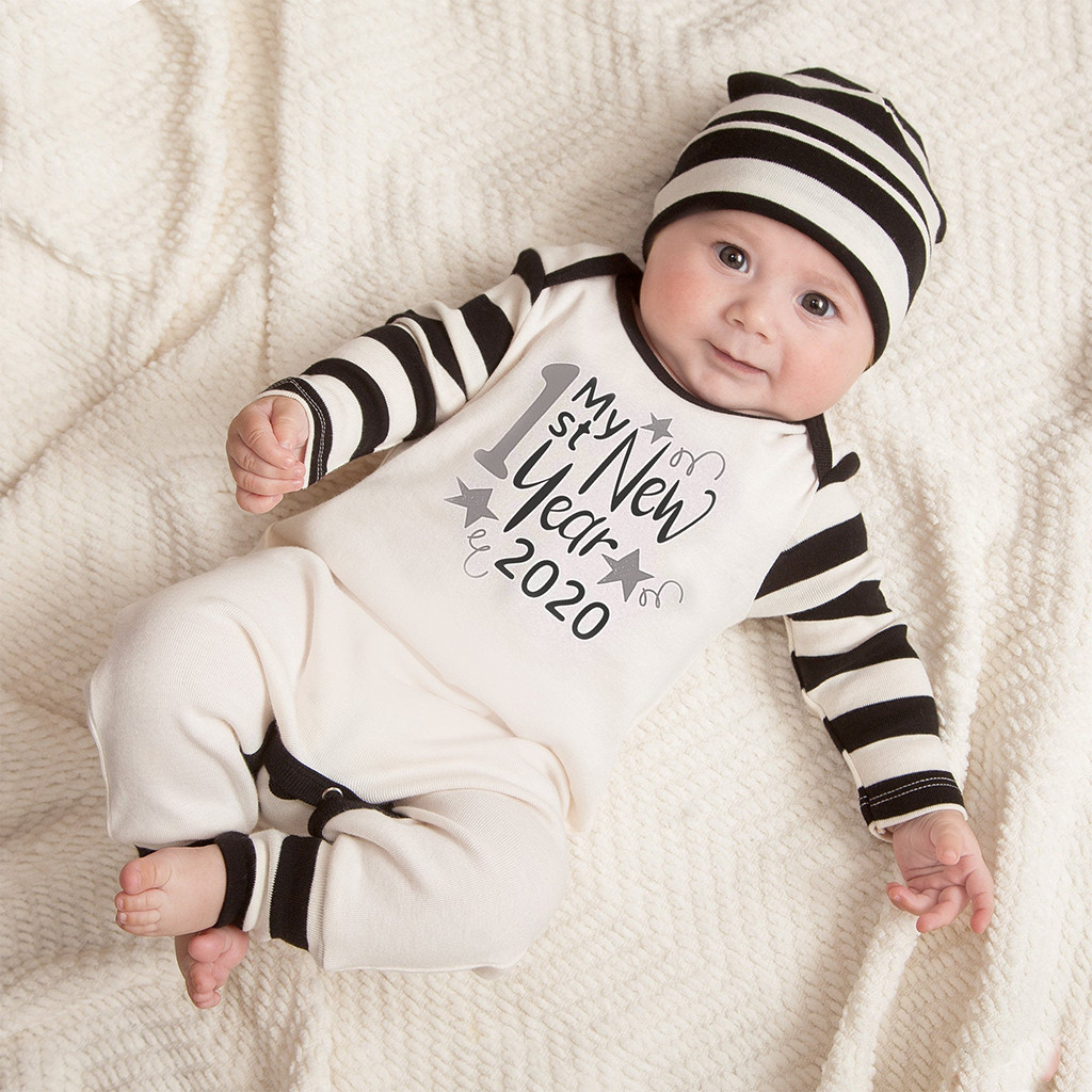 Black Newborn Infant Toddler Baby Girl Boy Outfit 12 18 Months Gifts Pumpkin Hoodie Romper Long