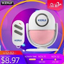 KERUI 125dB PIR Motion Alarm Door Bell Home Security Wireless Control Burglar Sensor Detector Welcome Doorbell SOS Alarm Systems