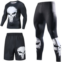 Superhero Kompression Trainingsanzüge männer Sport Anzug Quick Dry Lauf sets Kleidung Sport Jogger Training Gym Fitness Mann Set(China)