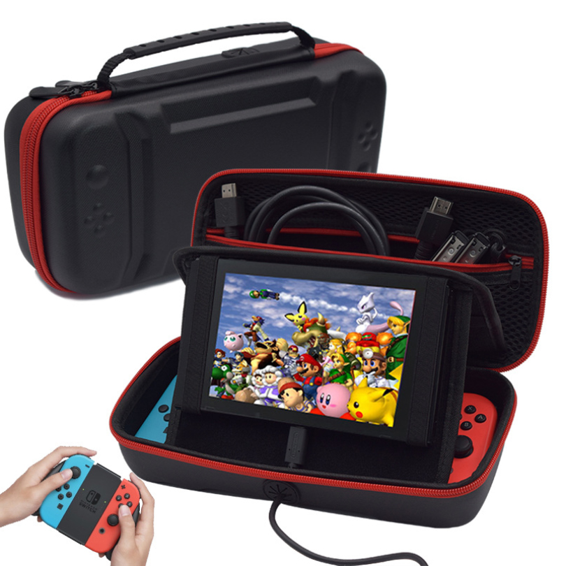 Portable PU Storage Bag Cover Cases For Nintend Switch Case NS Console Game Accessories Carry Bag Pouch With Charge Hole Stand