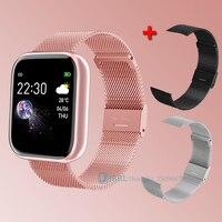 Reloj inteligente deportivo para hombre y mujer, pulsera electrónica con control del ritmo cardíaco y resistente al agua